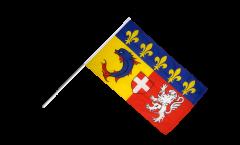 Bandiera da asta Francia Rodano Alpi - 60 x 90 cm