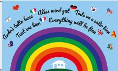 Bandiera Andrà tutto bene - Arcobaleno - 90 x 150 cm