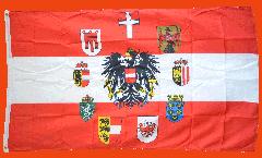 Bandiera Austria con 9 regione