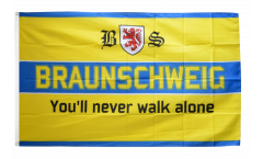 Bandiera Tifosi Braunschweig - You'll never walk alone