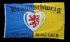 Bandiera Tifosi Braunschweig Für immer blau gelb