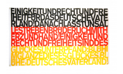 Bandiera Tifosi Germania Inno nazionale