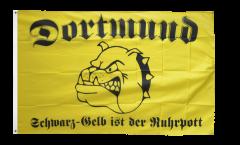 Bandiera Tifosi Dortmund bulldog Ruhrpott