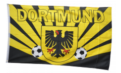 Bandiera Tifosi Dortmund raggi