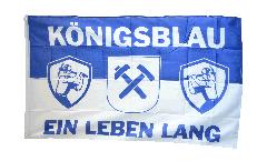 Bandiera Tifosi Gelsenkirchen Königsblau ein Leben lang