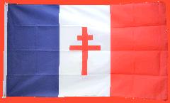 Bandiera Francia con la croce di Lorena