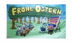 Bandiera Frohe Ostern Scuola di coniglietto