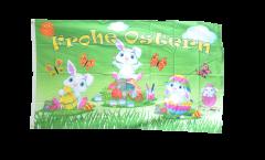 Bandiera Frohe Ostern Coniglietto di Pasqua 2