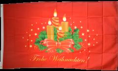 Bandiera Frohe Weihnachten Corona dell'Avvento