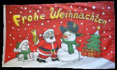 Bandiera Buon Natale pupazzo di neve rosso