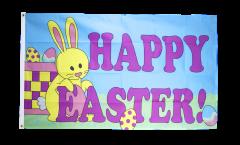 Bandiera Happy Easter con coniglietto di Pasqua