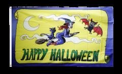 Bandiera Happy Halloween giallo