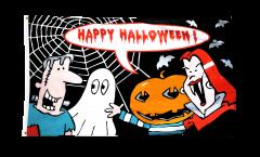 Bandiera Happy Halloween Mostro