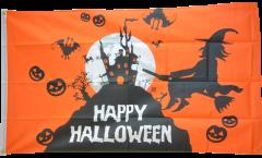 Bandiera Happy Halloween arancia