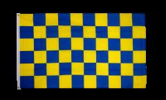 Bandiera a quadri blu-gialli