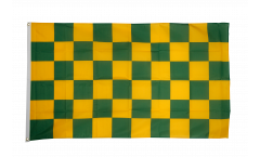 Bandiera a quadri verde-gialli