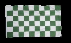 Bandiera a quadri verde-bianchi
