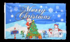 Bandiera Merry Christmas Polo Nord