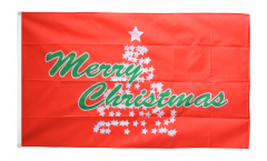 Bandiera Merry Christmas Albero di Natale