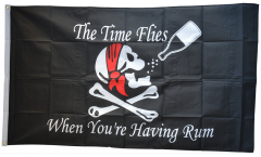 Bandiera Pirata The Time Flies When You are Having Rum