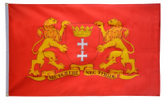 Bandiera Polonia Danzica con stemma