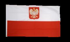 Bandiera Polonia con aquila