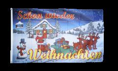 Bandiera Buon Natale Schon wieder Weihnachten