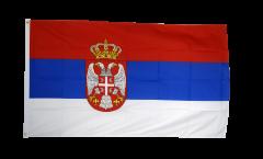 Bandiera Serbia con stemmi