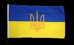 Bandiera Ucraina con stemmi