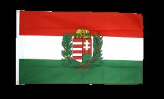 Bandiera Ungheria con stemmi