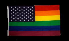 Bandiera USA Arcobaleno