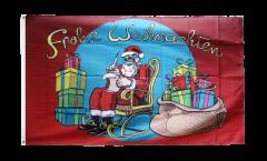Bandiera Babbo Natale Frohe Weihnachten