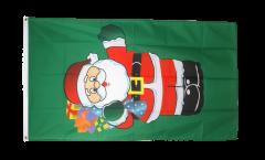 Bandiera Babbo Natale con dono