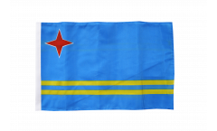 Bandiera Aruba con orlo