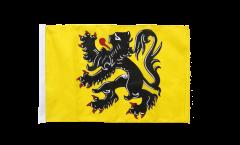 Bandiera Belgio Fiandre con orlo