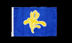Bandiera Belgio Bruxelles capitale con orlo