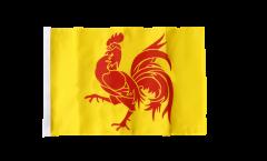 Bandiera Belgio Vallonia con orlo