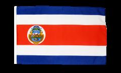 Bandiera Costa Rica con orlo