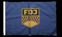 Bandiera Germania dell'Est FDJ Libera Gioventù Tedesca con orlo