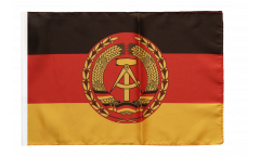 Bandiera Germania Est RDT Nationale Volksarmee NVA con orlo