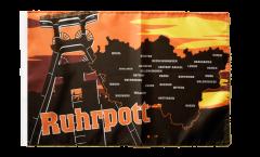 Bandiera Germania Ruhrpott Región del Ruhr con orlo