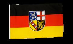 Bandiera Germania Saarland con orlo
