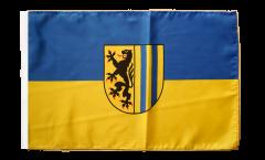Bandiera Germania Leipzig Lipsia con orlo