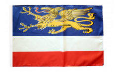 Bandiera Germania Rostock con orlo