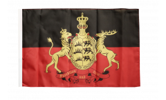 Bandiera Germania Württemberg 2 con orlo