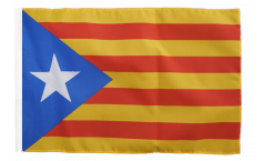 Bandiera Estelada blava Catalogna con orlo