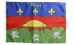 Bandiera Francia Guyana Francese Cayenne con orlo