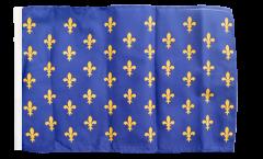 Bandiera Francia stemma giglio, blu con orlo