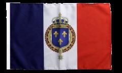 Bandiera Francia stemma regale con orlo