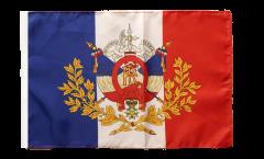 Bandiera Francia con stemmi con orlo